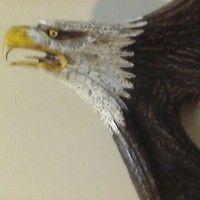 Flying Eagle on Moose Antler Artist Signed for sale www.postyourpiece.com