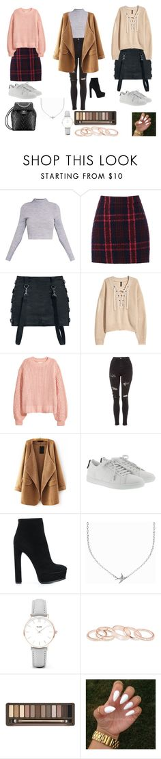 """aeropuerto"" by zinara-ponce on Polyvore featuring moda, Oasis, H&M, Topshop, WithChic, Yves Saint Laurent, Casadei, Minnie Grace, CLUSE y Kendra Scott"