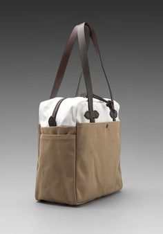 3ddfbd507f00 Canvas Zip Top Tote Bag in Tan  White http   www.revolveclothing