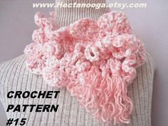 PINK SHELLS AND LOOPS SCARF crochet pattern - instant download!