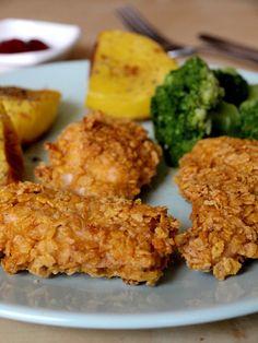 Nuggetsy; chrupiący kurczak z piekarnika
