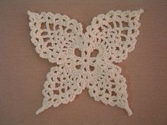 crochet butterfly.  webpage is in japanese but partial chart provided.