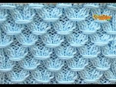 Easy Hinitting : Crochet Blouse - Crochet - Knitted for Women - Easy and Fast - Part # 1 - You . Lace Knitting Patterns, Knitting Stiches, Knitting Videos, Crochet Videos, Easy Knitting, Knitting Designs, Stitch Patterns, Crochet Chart, Bobble Stitch