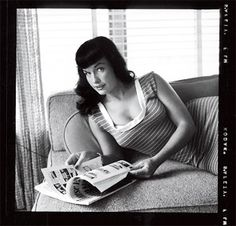 Bettie Page photographed by Bunny Yeager, 1954 __ <pinsupsratrodsandhotrodz.tumblr.>