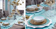 Wrong color, but same idea with the gold salad plates. Stylish Home Decor & Chic Furniture At Affordable Prices | Z Gallerie