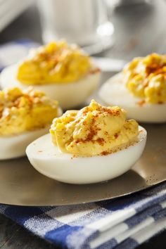 These are the best ever deviled eggs in my humble opinion. It's a must-make recipe at every gathering! They never last long!