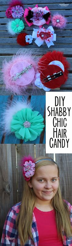 Shabby Chic Boutique Hair Bows! Make your bows interchangeable for alligator clips, french clips, pins or headbands! by diybric.blogspot.com