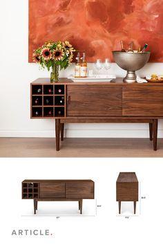 Decor, Wine Rack Table, Dining Room Bar, Furniture, Bar Furniture, Sideboard Bar, Mid Century Modern Living Room Furniture, Home Decor, Diy Deck Furniture