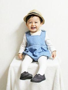 早く春ならないかな~♪ なるコーデ tops:西松屋 bottoms:pumpkids hat:hi