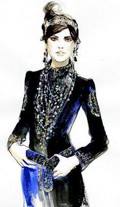 Chanel fashion illustration by Regina Yazdi