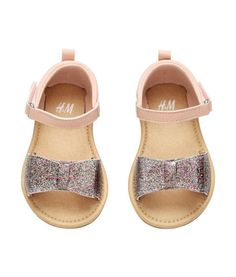 Sandals with a glittery bow   Product Detail   H&M