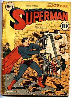 SUPERMAN #5-1940-Golden-Age Superhero DC Comic 4th Lex Luthor @ niftywarehouse.com #NiftyWarehouse #Superman #DC #Comics #ComicBooks