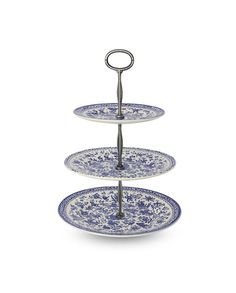 3 Tier Cake Stand  - Blue Regal Peacock - Burleigh