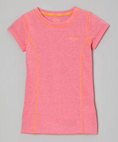 Look what I found on #zulily! Reebok Hot Pink Seams Tee - Girls by Reebok #zulilyfinds. $11.99