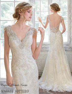 Elison by Maggie Sottero #raquelalemañnovias #creamostilusion #maggiesottero #vestidosnovia #weddingdress #vintage #tiendanovias #alicante