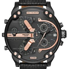 Diesel Mr. Daddy 2.0 Quartz Chronograph Black Dial DZ7350 Men's Watch
