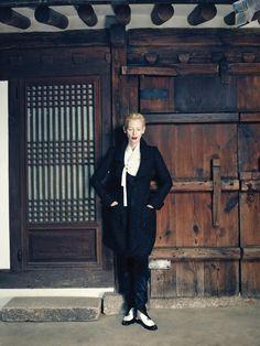 Tilda Swinton by Hong Jang Hyun for Vogue Korea, August 2015