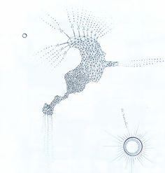 EL GRAN VUELO. Tinta china sobre papel, 2010. Adriana Lugones