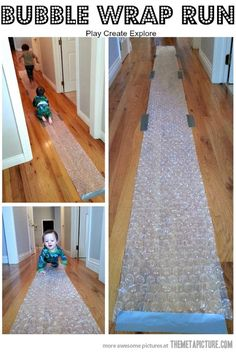 Bubble wrap run… I want to do this to the entire floor of my apartment.