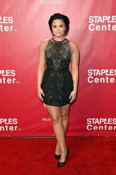 Demi Lovato attends the 2016 MusiCares Person of the Year Honoring Lionel Richie.