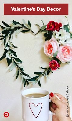 It's love at first sight with these front door wreaths, centerpieces & Valentine's Day decoration ideas for home. Valentine Day Wreaths, Valentines Day Decorations, Valentine Day Crafts, Happy Valentines Day, Holiday Crafts, Valentine Ideas, Valentine's Day Diy, Spring Crafts, Stores