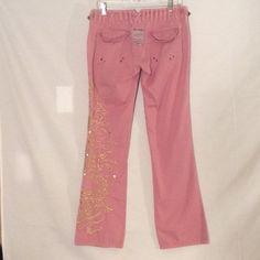 Da Nang Pants - Da Nang pink with embroidered dragon cargo pants
