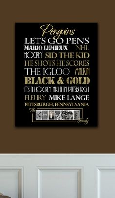 Pittsburgh Penguins Standout by SportingStandouts on Etsy, $60.00