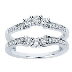 NEW 0.50 CTS DIAMOND RING ENHANCER WRAP JACKET GUARD INSERT 14K W GOLD CL-34122