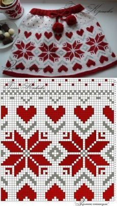 Baby Knitting Patterns, Crochet Poncho Patterns, Knitting Charts, Crochet Chart, Knitting Stitches, Knitting Designs, Cross Stitch Embroidery, Cross Stitch Patterns, Motif Fair Isle