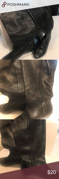0b658a5594f ️Steve by Steve Madden Black Boots Steve by Steve Madden Insight Black  Leather Tall Boots. Steven By Steve Madden Shoes Heeled Boots