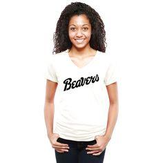 Bemidji State Beavers Women's Classic Wordmark Tri-Blend V-Neck T-Shirt - White - $29.99