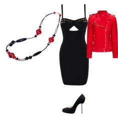 """Mina"" by i-tre-mercanti on Polyvore  Love it! It's a great refreshing updated look for the season. There are all my favorite. It's complete with the heels. The dress is one of a kind."