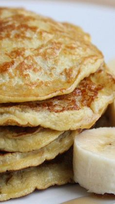 Gluten Free Light Healthy Two Ingredient Pancakes