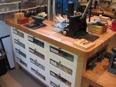 Organizing The Studio with Ikea Vaarde -lots of drawers - Connie Fox