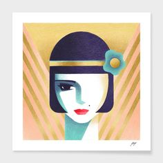 Découvrez «Louise», Édition Limitée Affiches d'art par Samy Halim - À partir de 27€ - Curioos