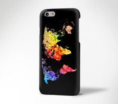 Abstract Color World Map iPhone 6s Plus Case iPhone 5s 5c Case Galaxy S6 Edge Plus Case 184