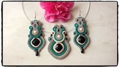 "Soutache set ""Cellyn"" earrings and pendants 😉"