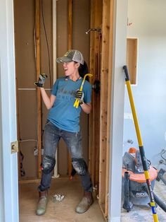 Guest bathroom demolition renovation Floor Grout, Shower Floor Tile, Bathroom Floor Tiles, Teds Woodworking, Woodworking Projects, Wood Projects, Shower Installation, Shoe Molding, Glass Shower Doors