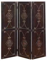Panel Leather Folding Screen