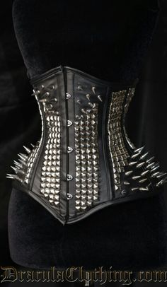 Studded/spiked underbust corset from dracula corsets