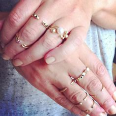 jewelry Stacking rings gold / smykker guld ringe