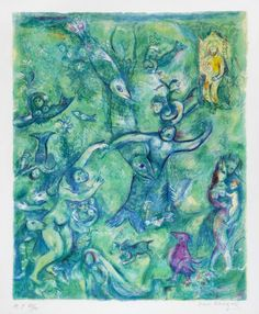 #MarcChagall | Plate 9 from Four Tales from Arabian Nights | Masterworks Fine Art Inc.