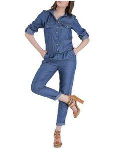 ΝΕΕΣ ΑΦΙΞΕΙΣ :: Ολόσωμη Φόρμα Jean Alike - OEM Jeans, Tops, Women, Fashion, Moda, Fashion Styles, Fashion Illustrations, Denim, Denim Pants