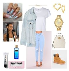 Handle It- Chris Brown by mirah123 on Polyvore featuring polyvore fashion style RE/DONE Alexander Wang Timberland Gucci JBW Magdalena Frackowiak Bobbi Brown Cosmetics Victoria's Secret Boohoo clothing