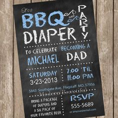 21 coed baby shower invitation wording examples messages and chalkboard bbq and diaper baby shower invitation blue dad diaper invitation printable invitation filmwisefo