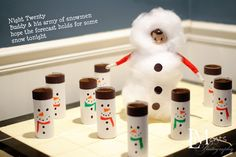 THE ELF ON THE SHELF~ Elf is dressed up as a Snowman.