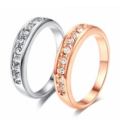 Cheap ring pig, Buy Quality ring scissors directly from China ring iron Suppliers: Top Quality 9 Stone Classic Wedding Ring Rose Gold Color Ring Austrian Crystals Full Sizes Wholesale Classic Wedding Rings, Cheap Rings, Pave Ring, Gold Plated Rings, Rose Gold Color, Dream Ring, Engagement Jewelry, Jewelry Accessories, Bling