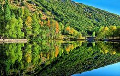 Lake in Jermuk. Looks like a mirror