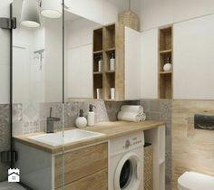 Like the bathroom Laundry Bathroom Combo, Bathroom Inspo, Bathroom Layout, Bathroom Wall, Bathroom Storage, Bathroom Inspiration, Eclectic Bathroom, Bathroom Interior, Modern Bathroom