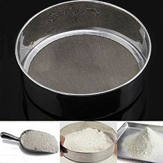 Stainlessteel Mesh Flour Sifting Sifter Sieve Strainer Cake Baking Kitchen